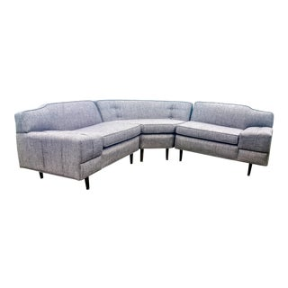 Mid-Century Modern Gray Sectional Sofa