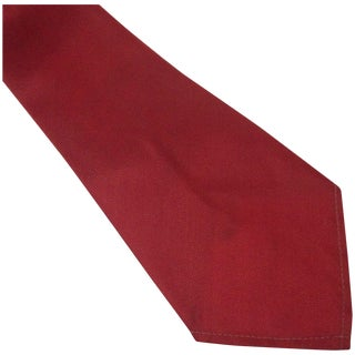 Vintage Red Nylon Sherman Wide Tie