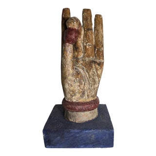 Chinese Wood Buddha Hand Carving