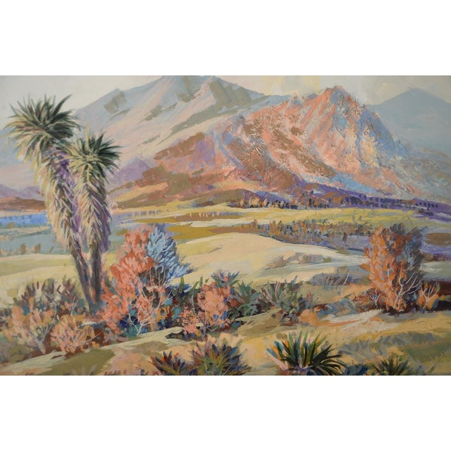 Indio Hills & Valley Desert Landscape Painting - Image 3 of 10