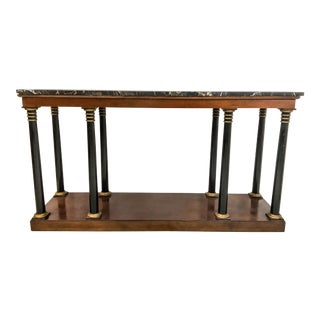 Neo-Classical Style Marble Top Console Table
