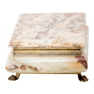 Italian Marble Onyx Trinket Box