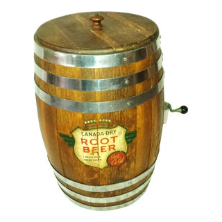 Original Lg Wood Canada Dry Root Beer Barrel