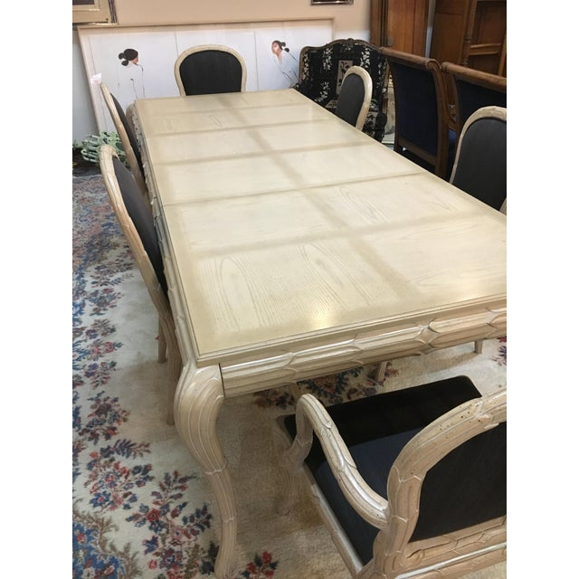 Washed Wood Dining Table & Chairs - Set of 7 - Image 4 of 7