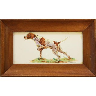 Framed Sporting Dog Enamel Print
