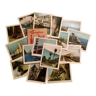 Vintage Southern Pacific Railroad Souvenir Prints - Set of 15