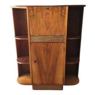 Art Deco Desk With Bookshelves