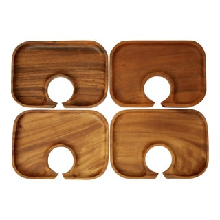 Acacia Wood Canapé Trays - Set of 4