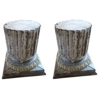 Large Architectural Column Bases - a Pair