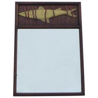Mid Century Modern Studio Fish Mirror