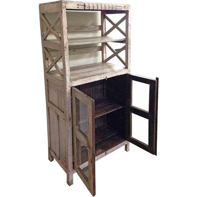 Image of Peach Distressed Vintage Cupboard