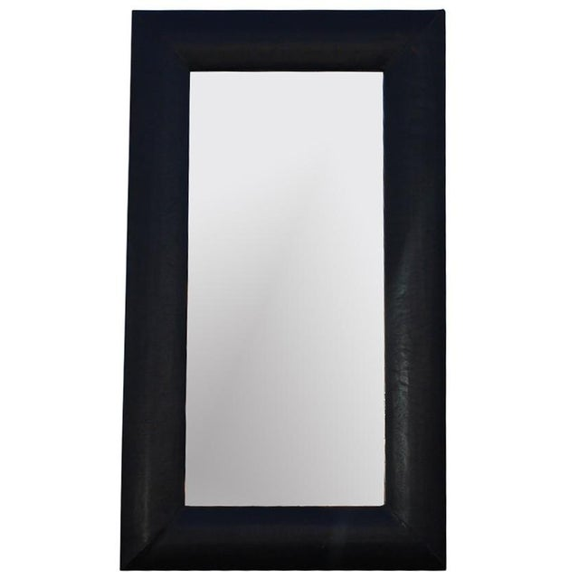 Large Leather Frame Mirror - Image 1 of 4