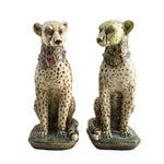 Image of Terracotta Cheetah Statues - A Pair