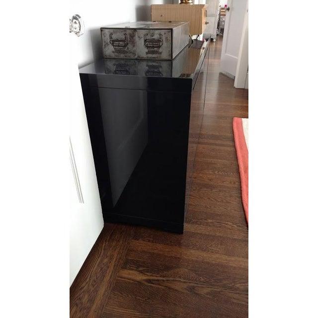 Large Indigo Lacquered Cabinet Credenza - Image 5 of 10