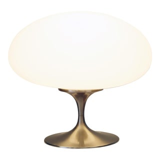 1960s Frosted Glass Mushroom Lamp
