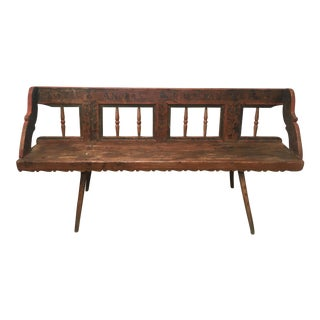 1860s Antique European Bench