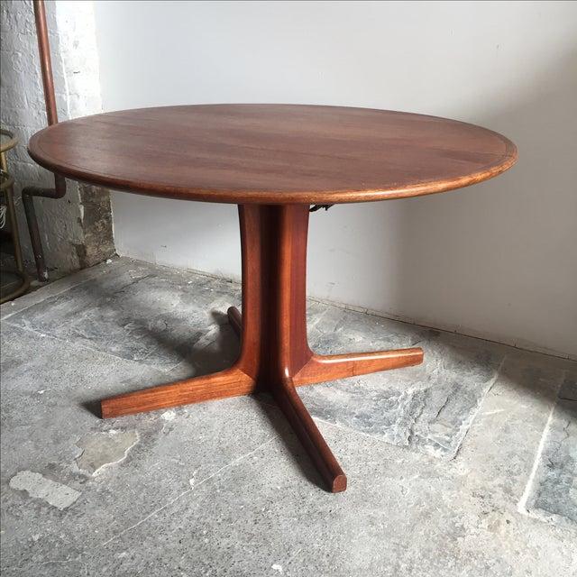 Mobler Teak Pedestal Dining Table - Image 4 of 8