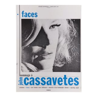 "French John Cassavetes & Gena Rowlands ""Faces"" Poster"