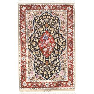 """Pasargad NY Persian Isfahan Silk & Korker Wool Rug - 2'8"""" x 4'1"""""""