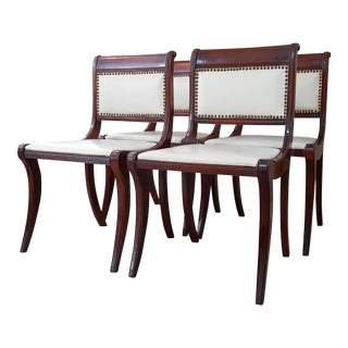 1950s Drexel Mahogany French Empire Style Dining Chairs - Set of 4