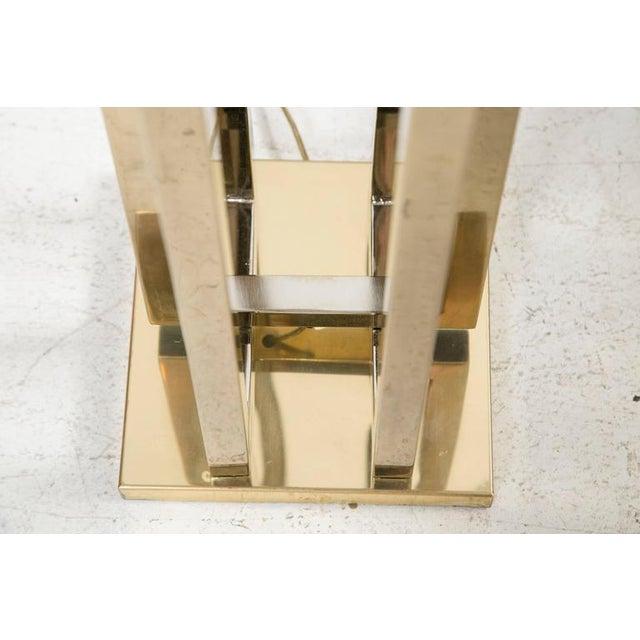 Milo Baughman Brass Deco Floor Lamp - Image 8 of 9