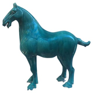 Chinese Tang-Style Turquoise Horse