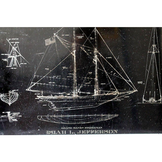 Image of Isiah L. Jefferson Ship Etched Slate Diagram