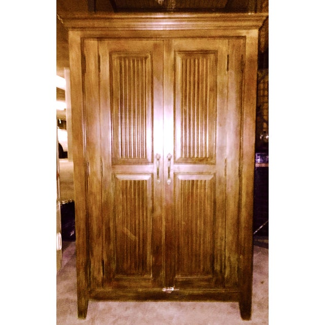 Solid Teak Armoire - Image 2 of 4