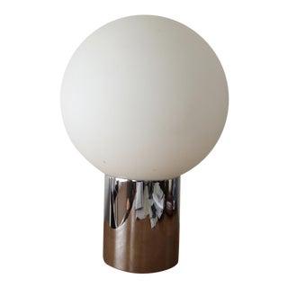 1970s Globe Lamp with Chromed Steel