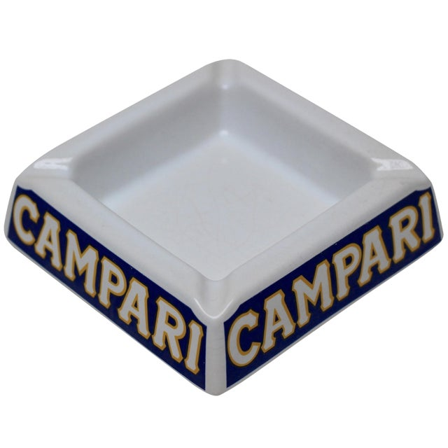 Italian Porcelain Campari Ashtray - Image 1 of 7