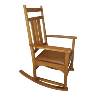 Modern Stickley Mission Oak Rocking Chair