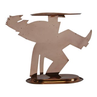 "Art Deco ""Pretzelman"" Waiter Tray by Lurelle Guild for Chase"