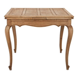 French Bleached Oak Table with Self Storing Leaves