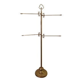 Brass Regency-Style Towel Stand / Quilt Rack