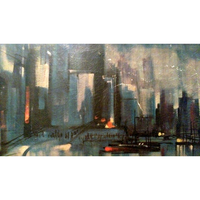 Ozz Franca Mid-Century Cityscape Lithograph - Image 3 of 10