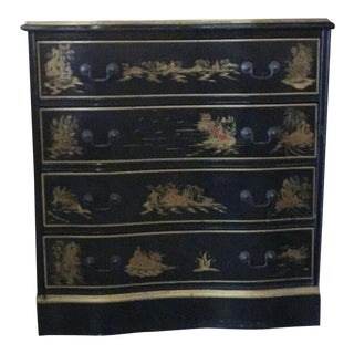 Leather Inlay Chinoiserie Chest