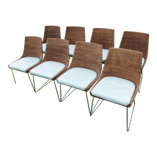 McGuire Woven Shelter Chairs - Set of 8
