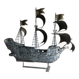 Handmade Large Metal Ship