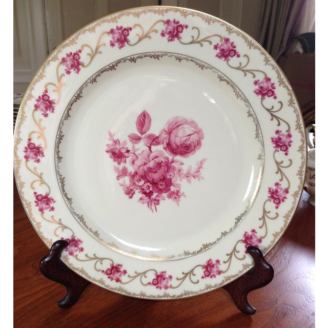 Image of Dresdner Pink Schumann Bavarian China - Set of 90