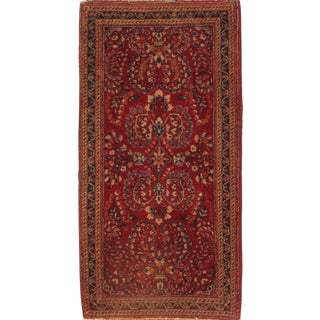 """Pasargad N Y Antique Persian Sarouk Hand Knotted Scatter Rug - 2'1"""" X 4'"""