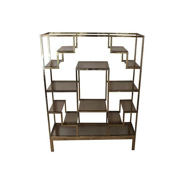 Romeo Rega-Style Brass & Glass Étagère - Image 4 of 6