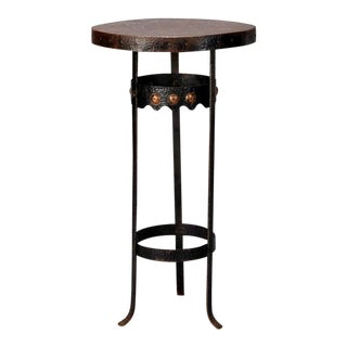 Arts and Crafts Bronze Metal Gueridon Side Table c.1930