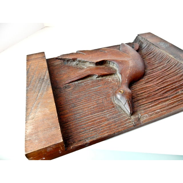 Hand Carved Wood Duck Wall Hanging - Image 6 of 6
