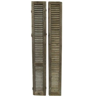 Tall Rustic French Shutters - A Pair