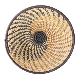 Vintage Woven Spiral Coil Basket