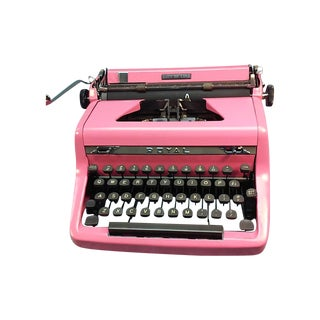 1949 Pink Royal Quiet De Luxe Typewriter