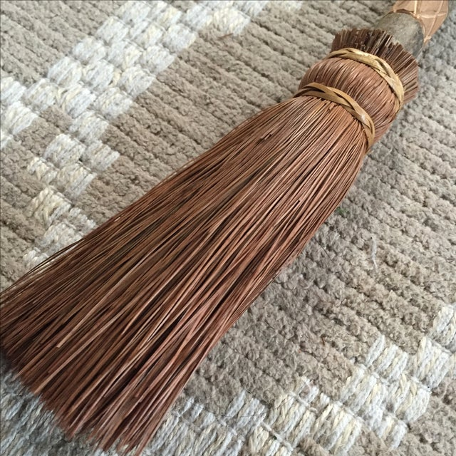 Rustic Carved Hand Broom - Image 3 of 8
