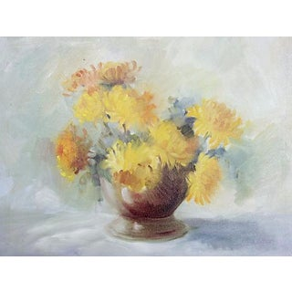 Yellow Mums Oil Painting