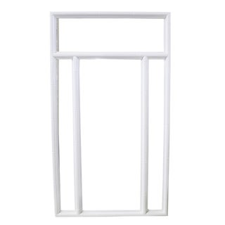 White Faux-Bamboo Mirror