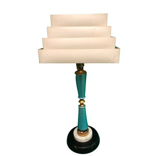 Retro Cornucopia Blue Atomic Table Lamp
